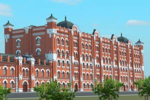 Здание мельницы Борчанинова-Первушина
