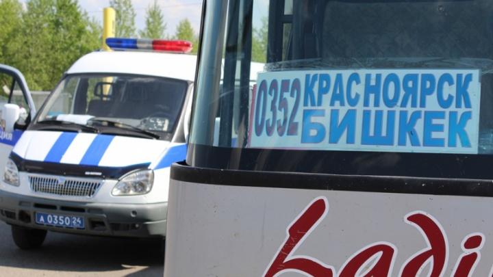 В Красноярске с рейса сняли неисправный автобус до Бишкека