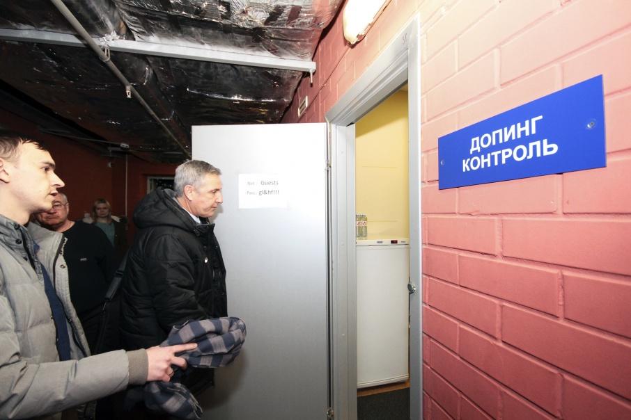 Специалисты осмотрели все служебные помещения арены