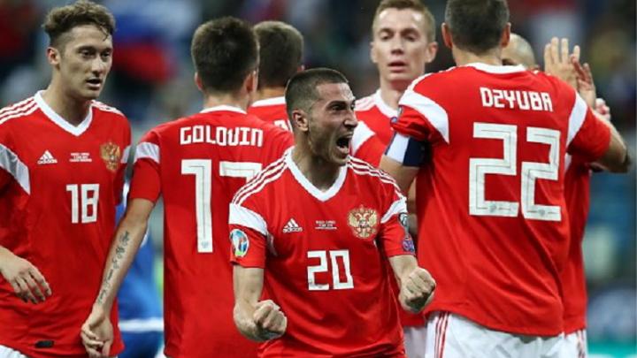 Сборная России с минимальным счётом обыграла Кипр в матче отборочного турнира чемпионата Европы