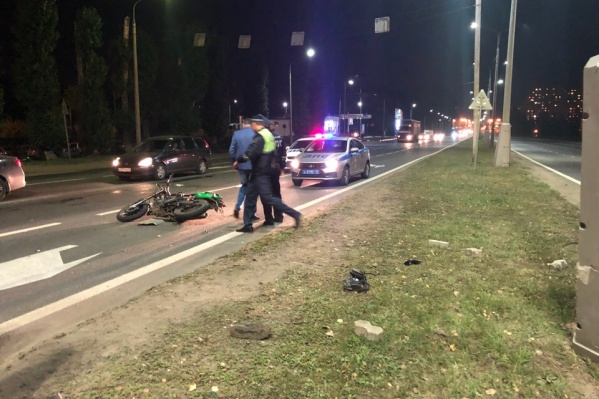 Мотоциклист скончался в больнице