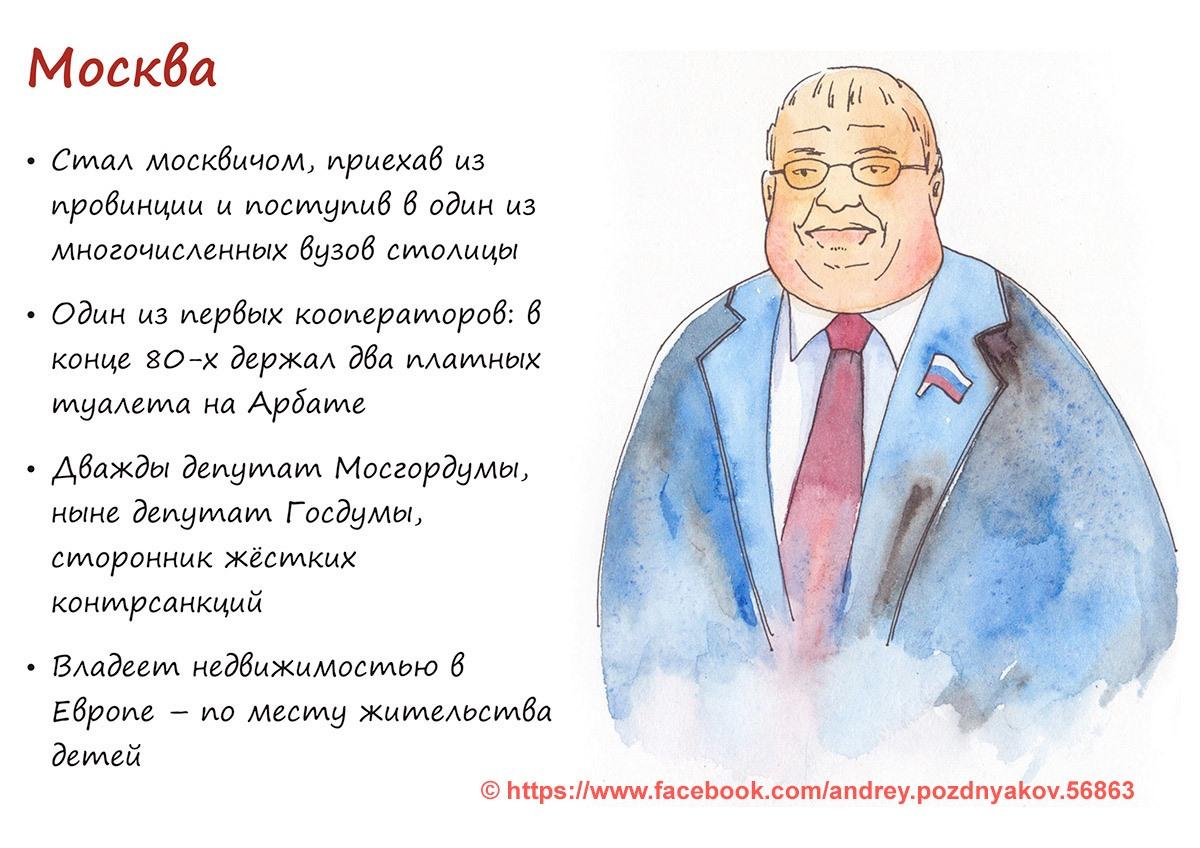 Москву нарисовали депутатом, который приехал из провинции и обзавёлся недвижимостью за границей