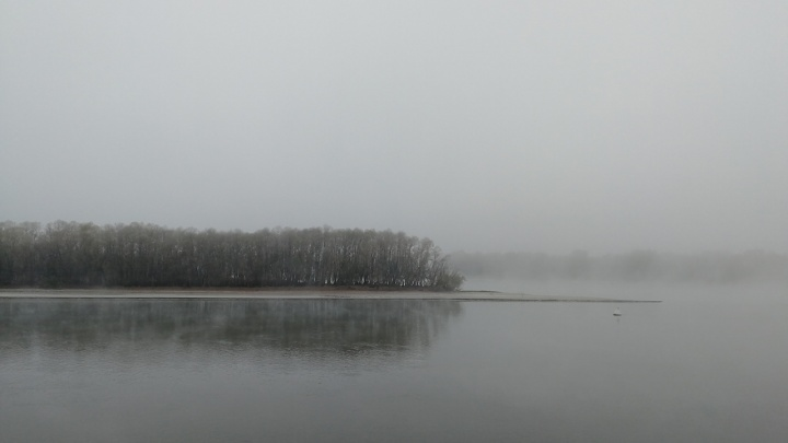 В пелене: Омск окутал туман