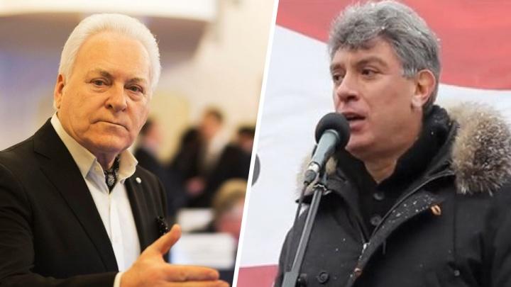 Экс-губернатор Анатолий Лисицын призвал узаконить мемориальную доску в память о Борисе Немцове