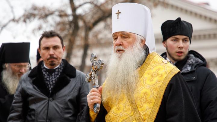 «Останется в своем сане»: отправленный на покой митрополит Герман отслужил прощальную службу