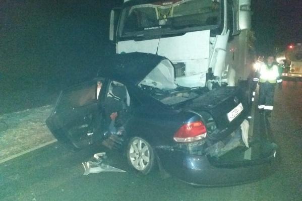 Авария произошла в 19:40