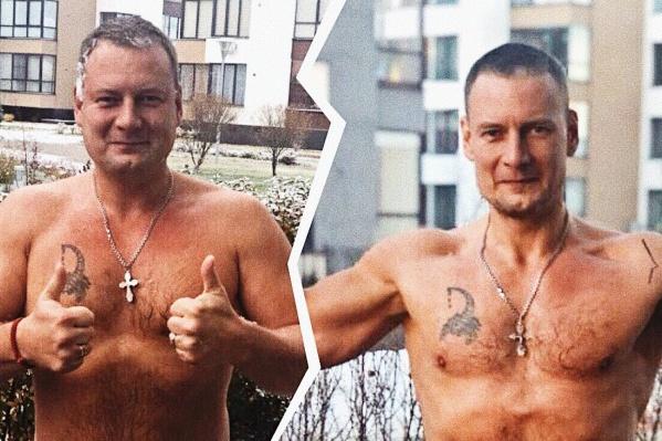 Кадр слева сделан в ноябре 2018 года, справа— в этом марте. Кажется, что с лишним весом Сергей сбросил и пару десятков лет— так молодо он стал выглядеть
