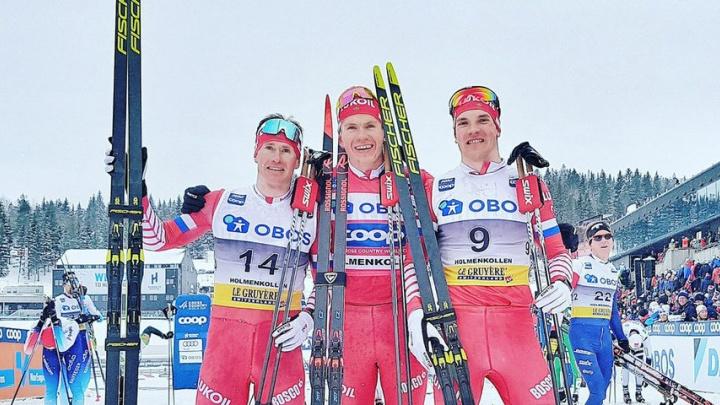 Тюменец Александр Большунов взял золото на этапе кубка мира по лыжным гонкам