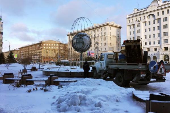 В этом году первым в городе начнёт светить фонтан на Орджоникидзе
