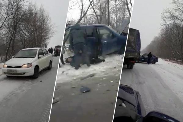 Сегодня на шоссе случилось несколько аварий