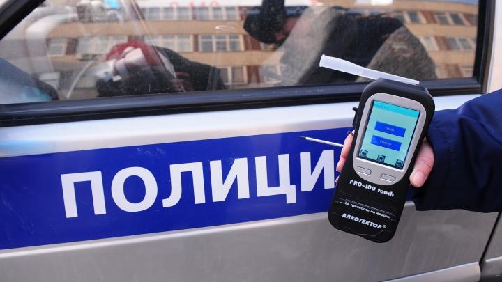 За праздники ГИБДД поймала на уральских дорогах314 пьяных водителей