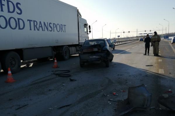 Столкновение произошло в районе остановки «Еманжелинск» на федеральной трассе