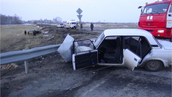 В ДТП в Щучанском районе погиб житель Челябинской области, еще шесть человек пострадали
