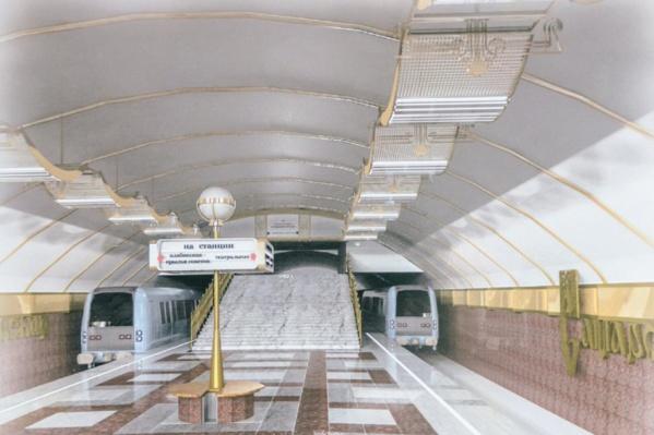 Один из вариантов обустройства станции