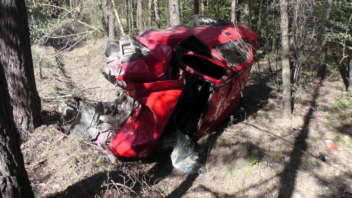 В Катайске водитель разбился насмерть, врезавшись в дерево