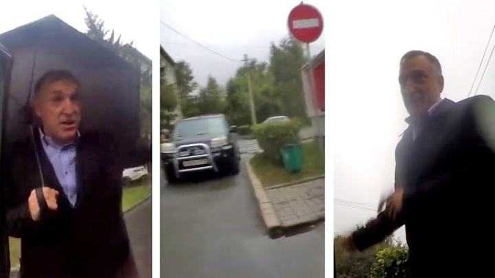 Замглавы Ленинского района попытался проехать под «кирпич» и попал на видео