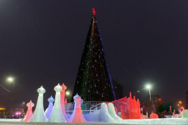 С 23:30 в ледовом городке начнется праздничная программа