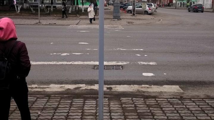 В мэрии пояснили появление опасного перехода в самом центре Красноярска