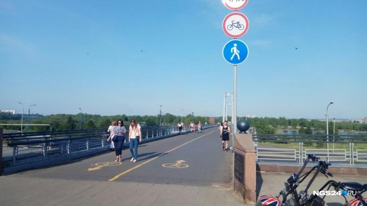 На вантовом мосту изменят разметку, чтобы избежать конфликтов между велосипедистами и пешеходами