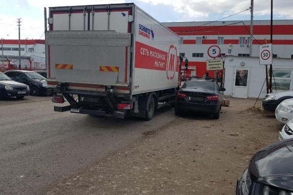 Происшествие случилось возле гипермаркета «Магнит»