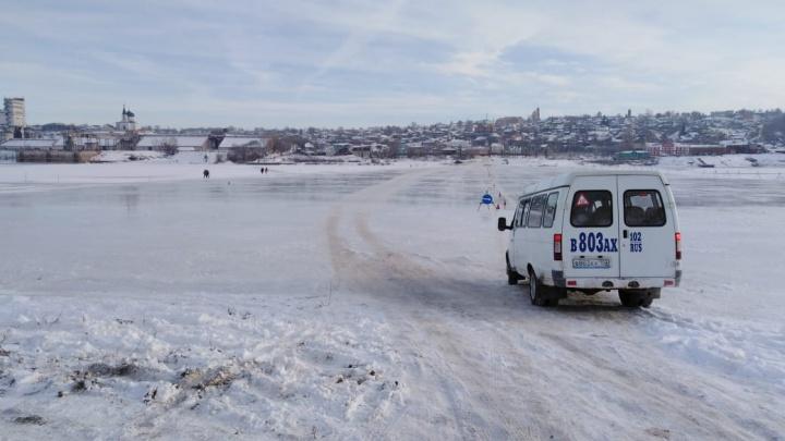 В Башкирии открыли первую ледовую переправу