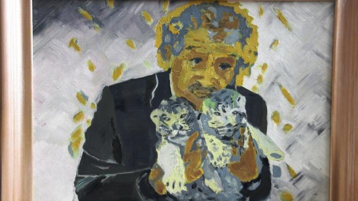 «Подарю его зоопарку»: сибирячка написала трогательный портрет Ростислава Шило с тигрятами