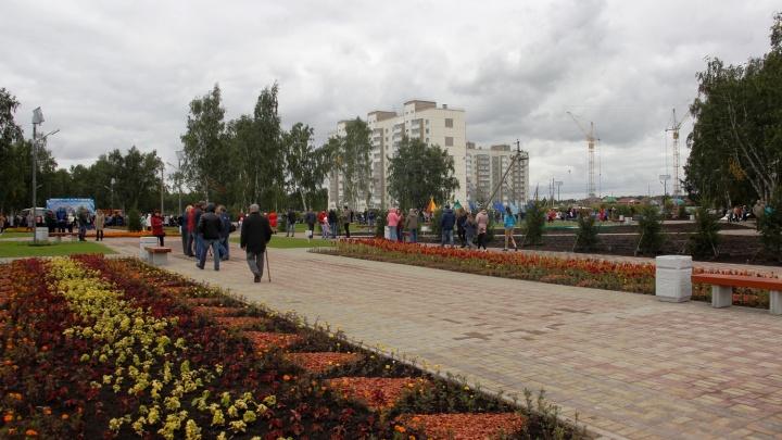 Сквер с огромными клумбами: изучаем новый парк на «Московке-2»