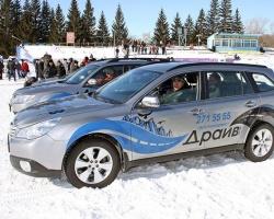 Subaru: ледовый тест-драйв