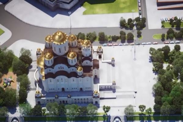 Храм святой Екатерины построят на Октябрьской площади