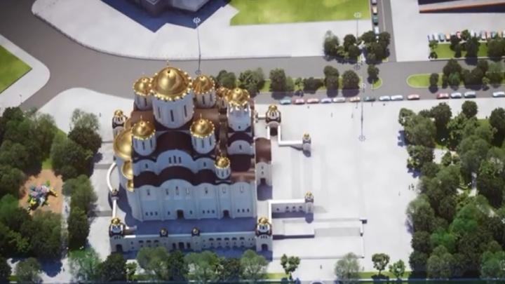 Митрополит Кирилл показал последние эскизы будущего храма у Драмы и позвал помолиться за него