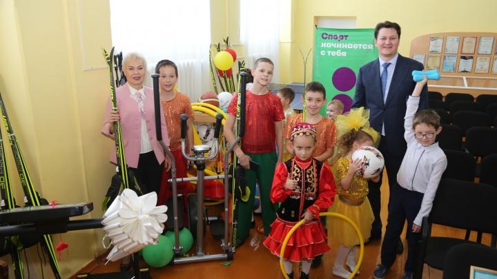 Дети 87% коррекционных школ Башкирии получили новое спортивное оборудование