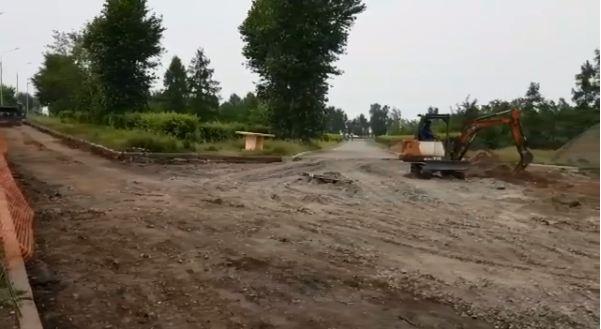 Караульную гору перекопали ради нового парка с амфитеатром