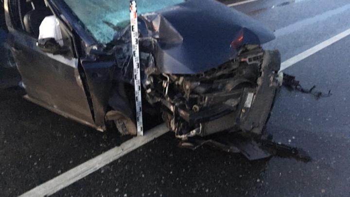 В Перми на шоссе Космонавтов в аварии погиб водитель иномарки