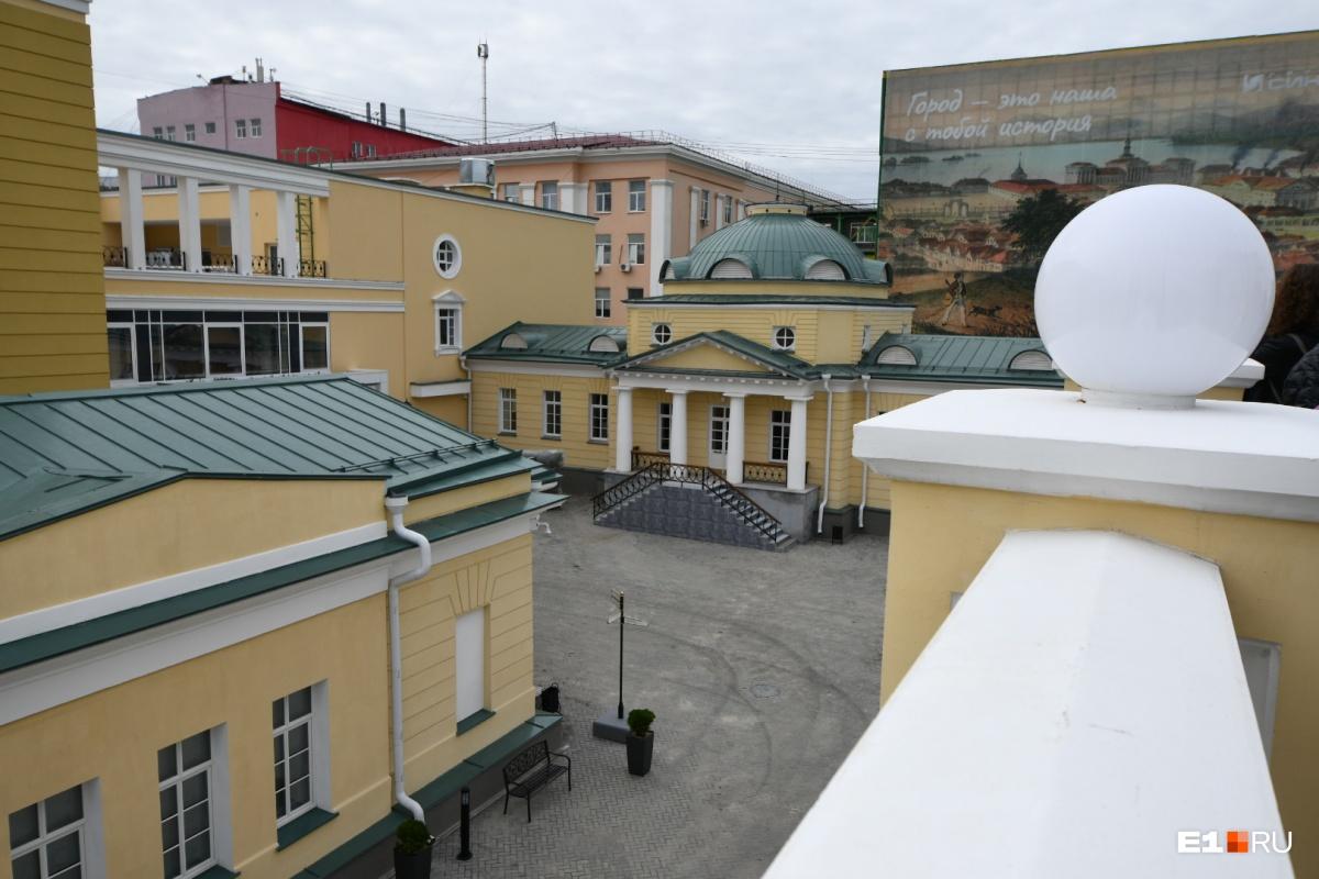 Вид с террасы зала приемов