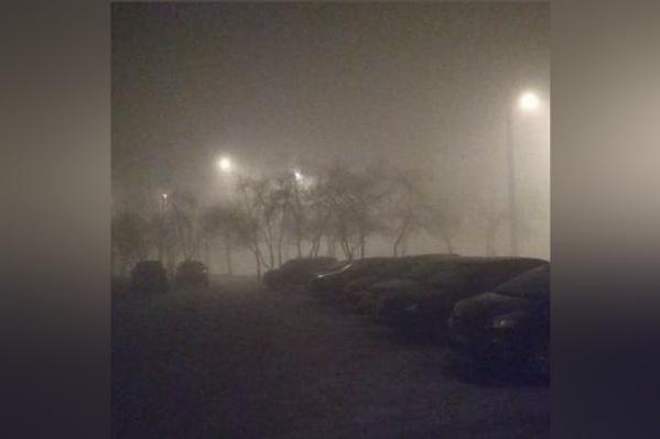 Видимость из-за смога была практически нулевой