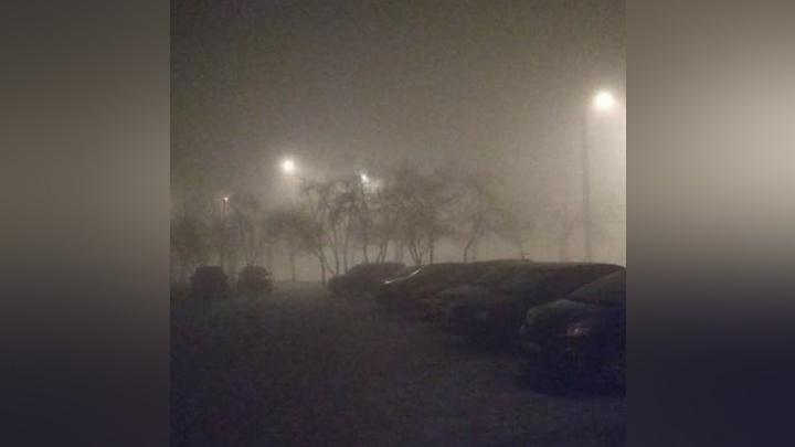 Жуткие кадры ночного смога опубликовали в соцсетях красноярцы