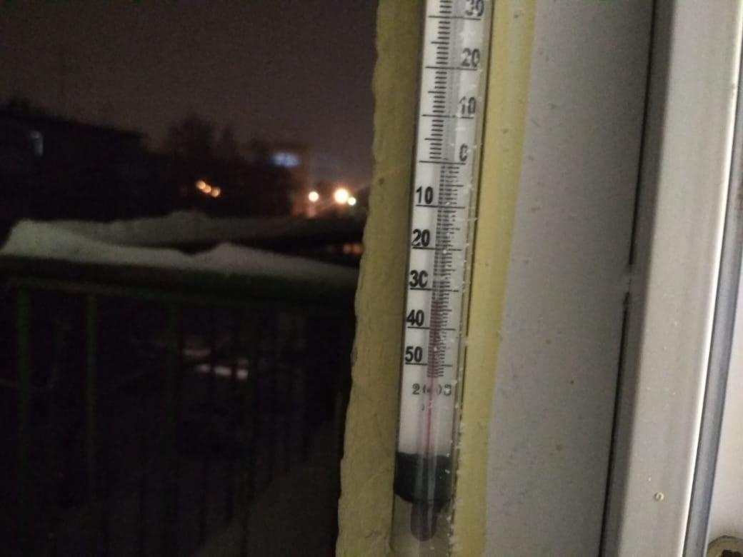 В районе Гурьевской −33 градуса