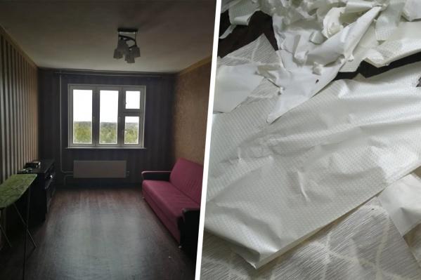 Жительница Новосибирска сдала квартиру семье с детьми. Когда они решили съехать, то сняли ручки с окон, ободрали обои и забрали с собой вещи— утверждает хозяйка