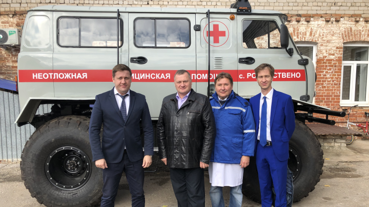 Чудо медицины: в Самарской области поликлинике передали «буханку» на гигантских колёсах