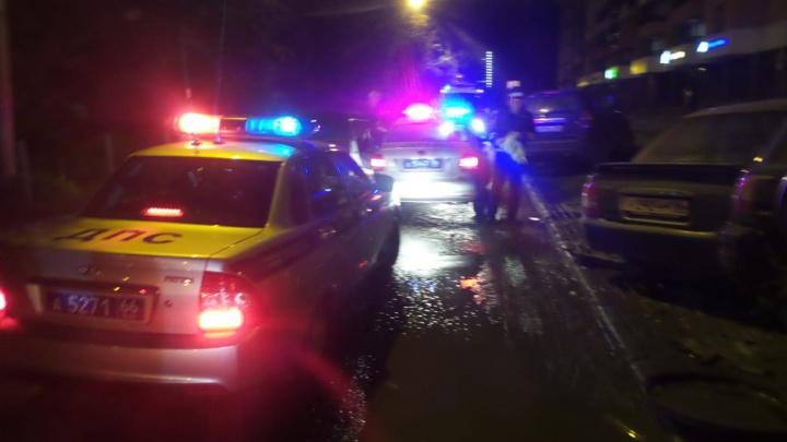 В районе Автовокзала подростки на машине родителей протаранили четыре автомобиля