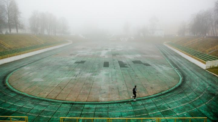 А дальше — как в тумане: Ярославль накрыло белой пеленой. Смотрим завораживающие фото