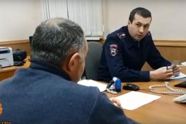 Мужчина объяснил полицейским, что испугался остаться на месте ДТП