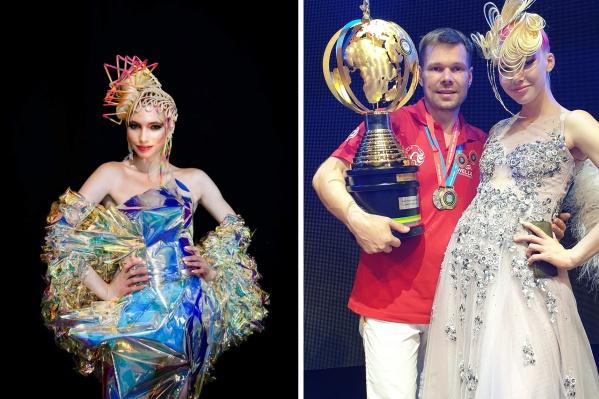 Александр Смолкин победил со своими работами на чемпионате в двух номинациях: «Гала-причёска» (слева) и «Свадебная причёска» (справа)