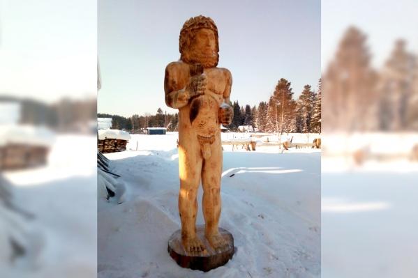 Скульптура Сабика. Так же называется уральский поселок— предположительно, по имени древнего бога