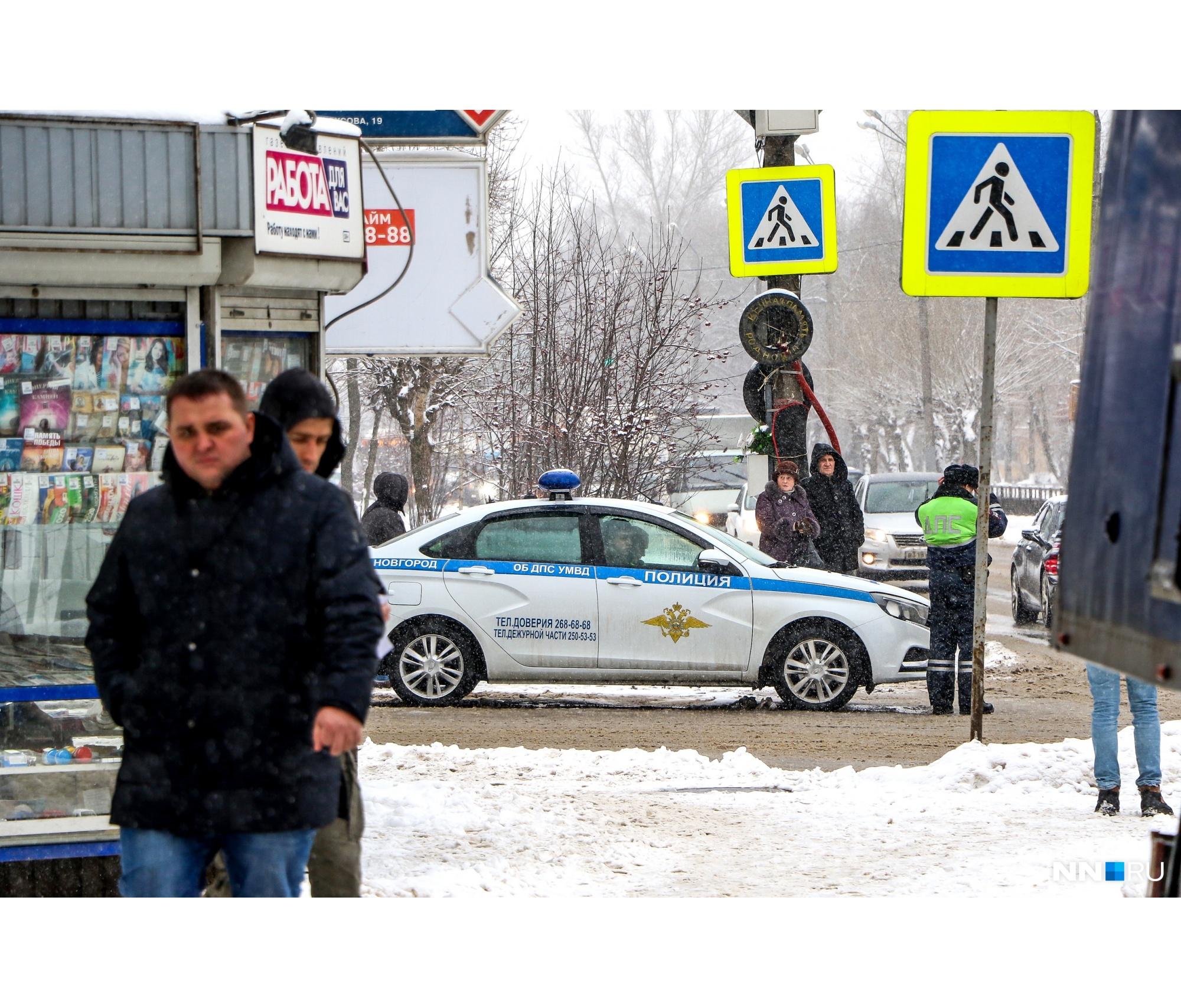 Полиция дежурила на перекрестках дорог