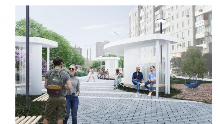 Опубликованы проекты трех новых скверов в Октябрьском районе: как они будут выглядеть