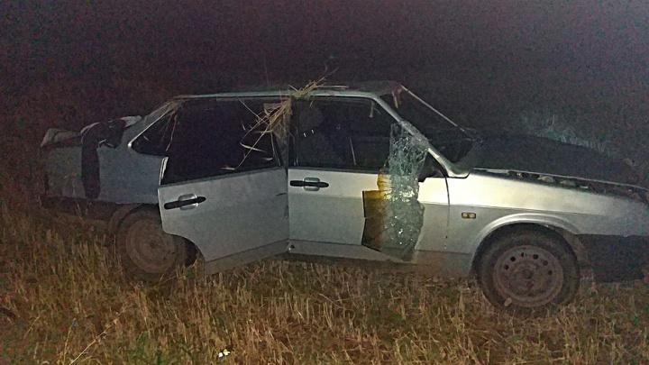 Жуткая авария в Башкирии: автомобиль сбил насмерть женщину и опрокинулся в кювет