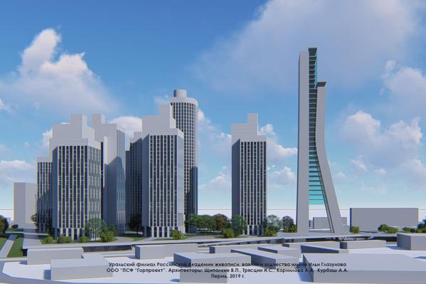 Концепцию застройки Центрального рынка высотными зданиями представила на своем сайте архитектурная компания IT-arc