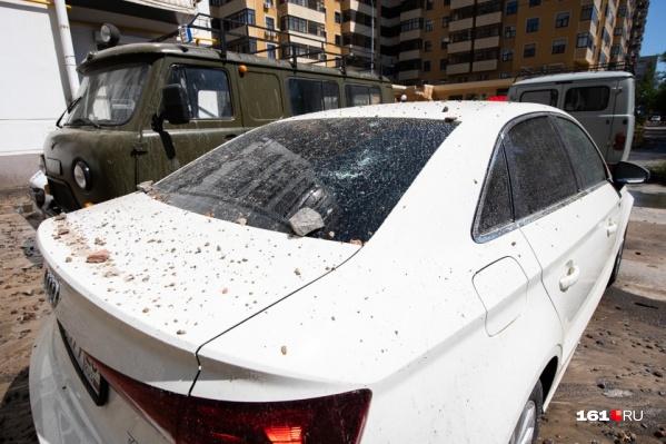 Из-за аварии четыре автомобиля получили повреждения