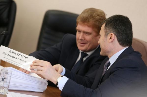 Пора менять табличку, временный мэр Владимир Елистратов избавился от приставки «врио»